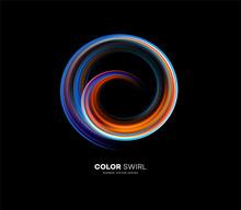 Color Bright Swirl Organic 3d ...