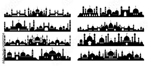Fotografiet Arabic architecture silhouette