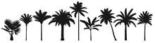 Palm Trees Silhouette. Retro C...