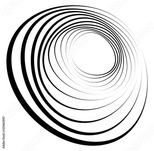 Fotografie, Obraz Monochrome volute, vortex shapes