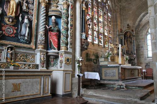 Obraz na plátně Saint-Ronan church in Locronan in brittany (france)