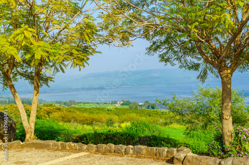 Sea of Galilee (Kinneret lake) from Mount Beatitude Canvas Print