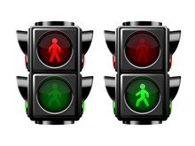 Pedestrian Traffic Lights Red ...