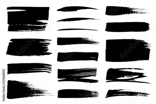 Photo Collection set of hand drawn underline and strokes in marker brush doodle style