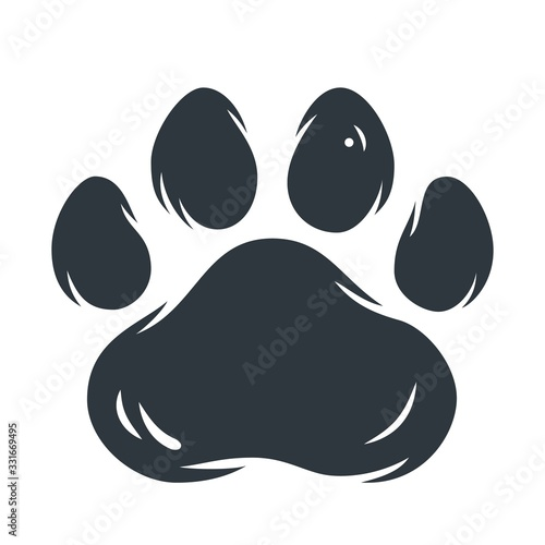 Leinwand Poster Animal pet cat or tiger paw footprint