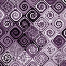 Purple Retro Swirls Abstract P...