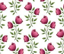 Pink Floral Seamless Spring Pa...