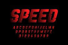Speed Style Font Design, Alpha...