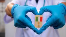 Doctor Hand Heart Shape Holdin...