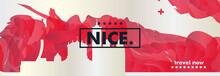 France Nice Skyline City Gradi...
