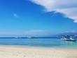 Beautiful tropical ocean with blue sky