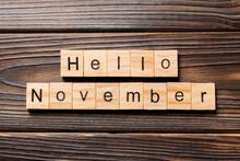 Hello November Word Written On...