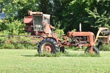 Antique Tractor And Combine