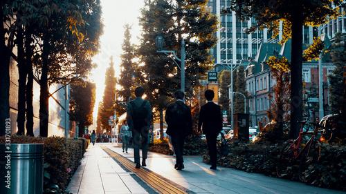 Fototapeta 都会の夕方 obraz