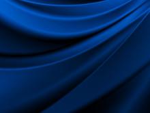 滑らかなサテンの布地#青