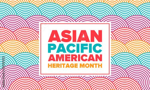 Obraz na płótnie Asian Pacific American Heritage Month