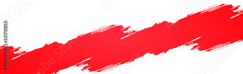 Smear of red paint Canvas Print