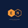 E N EN Initial logo template vector. Letter logo concept