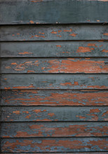 Texture Of Wooden Old Painted Shutters