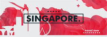 Singapore Skyline City Gradien...