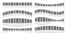 Realistic Piano Keys Set. Musi...