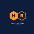 H R HR Initial logo template vector. Letter logo concept