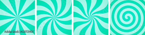 Obraz Set of sweet mint candy abstract vector backgrounds - fototapety do salonu