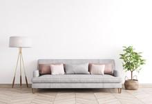 Mock Up Modern Interior Sofa I...