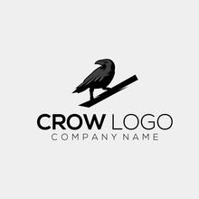 Crow Logo Design Vector Abstract Illustrator
