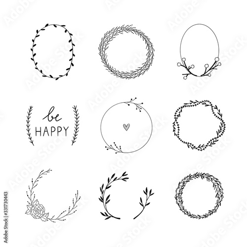 Wreaths vector collection Slika na platnu