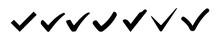 Check Mark Set Icon. Vector Il...