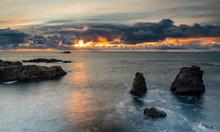 Sea Stacks, North Saberanes Sunset, Big Sur, California, USA