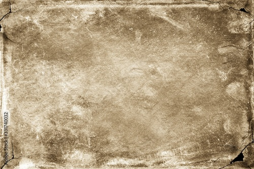 Sepia background. Front view of blank old dirty background Canvas Print