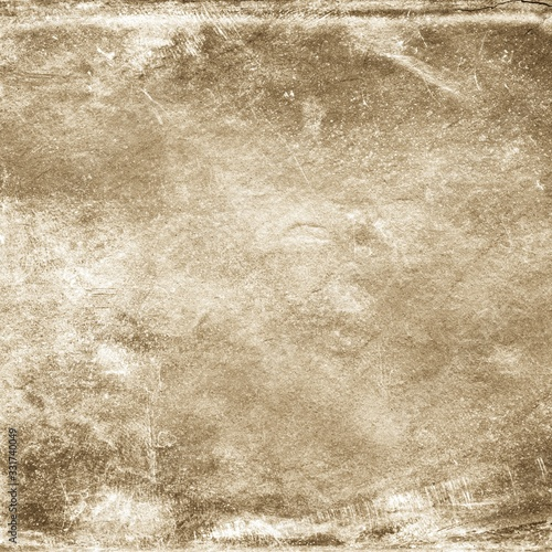Fotografie, Tablou Sepia background. Front view of blank old dirty background