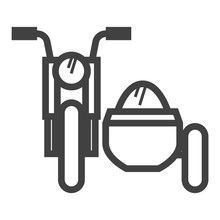 Outline Icon - Military Motorc...