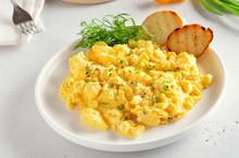 Scrambled Eggs On Plate
