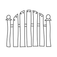 Fence Outline Vector Illustrat...