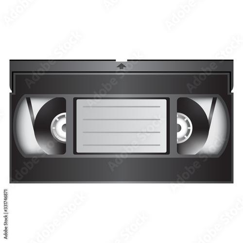 Fotografija VHS video tape cassette in color