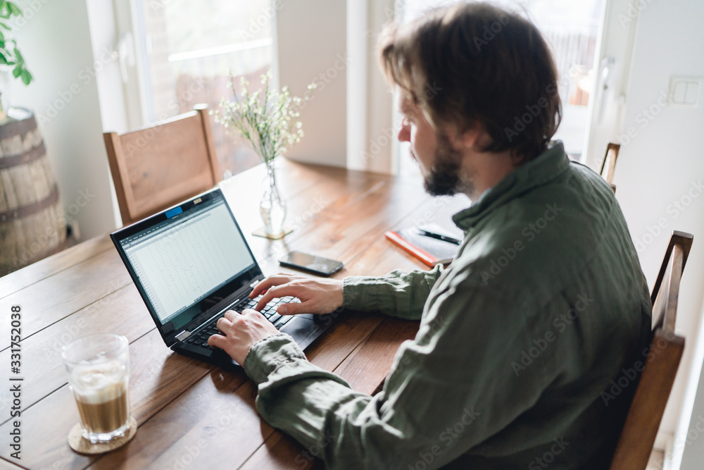 Fototapeta Homeoffice Laptop