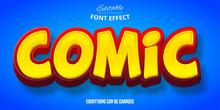 Comic Text, 3d Editable Font Effect