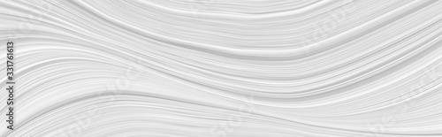 White background 3 d with elements of waves in a fantastic abstract design, the texture of the lines in a modern style for wallpaper. Light gray template for wedding ceremony or business presentation. - fototapety na wymiar