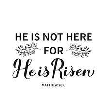 He Is Risen Calligraphy Hand L...