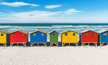 The Famous Beach Of Muizenberg...