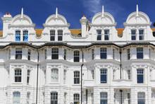 Häuserreihe Im Viktorianischen Stil