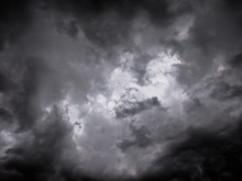 Clouds On A Dark Sky Before Th...