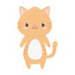 cute tiger animal cartoon isolated icon