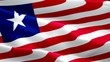 Liberia waving flag. National 3d Liberian flag waving. Sign of Liberia seamless loop animation. Liberian flag HD resolution Background. Liberia flag Closeup 1080p Full HD video for presentation