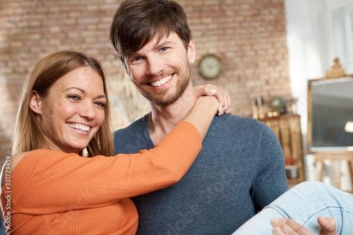 Closeup photo of loving couple