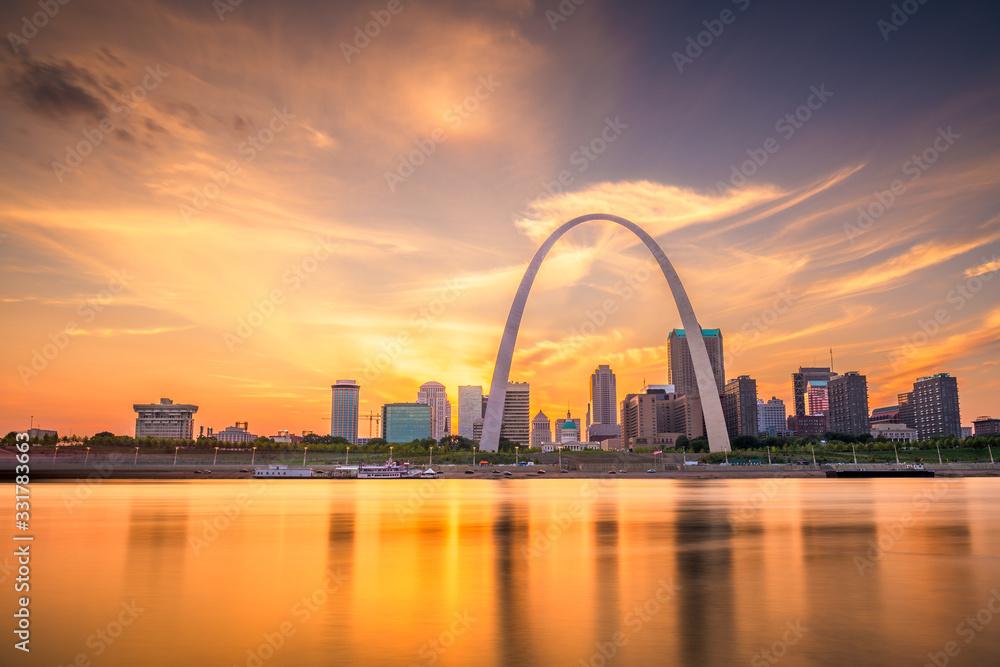 Fototapeta St. Louis, Missouri, USA Skyline