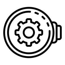 Watch Repair Controller Icon. Outline Watch Repair Controller Vector Icon For Web Design Isolated On White Background